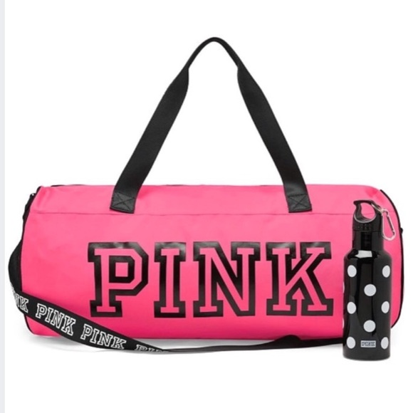 PINK duffle and free water bottle 97a69b8e34c46
